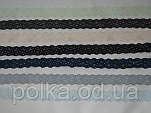 Узкое кружево-205,ширина 2см,цвет синий/морская волна