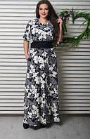 Платье длинное летнее, 48-54 размер
