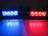 Стробоскопы FS LED  S5-4 красно-синие. 12 В., фото 1