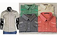 Рубашка мужская льняная короткий рукав