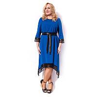 Женское платье большого размера с поясом