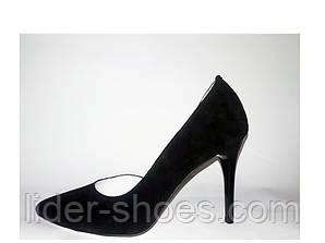 Женские туфли лодочки замшевые