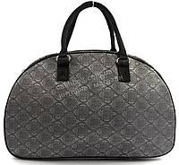 Стильная удобная дорожная сумка саквояж светло серого цвета art. 2546