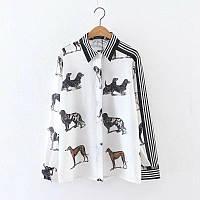 Стильная рубашка с собачками, фото 1