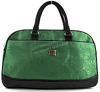 Стильная удобная дорожная сумка саквояж ярко зеленого цвета art. 41199
