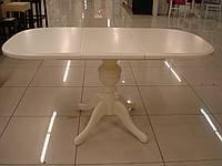 Стол раскладной Эмиль ваниль 105(+38)x75x74 овальный