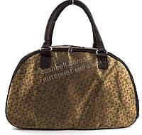 Стильная удобная дорожная сумка саквояж золотистого цвета art. 2536 (100852)