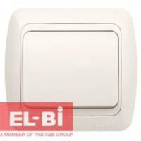 Выключатель 1-клавишный белый EL-BI Tuna 502-0200-200 (без вставки)