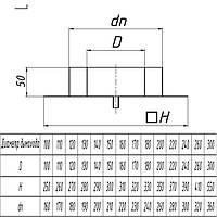 Подставка настенная для дымохода из нержавеющей стали с теплоизоляцией d 100/200мм s 0,5/0,5мм