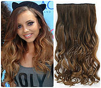 Волосы на заколках затылочная прядь волна омбре №8Т27