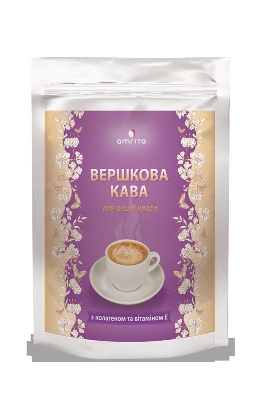 Кофе с коллагеном и витамином Е- заботится о красоте Вашей кожи, волос и ногтей(180гр.,Амрита,Украина)