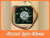 Вентилятор (кулер) для корпуса 3pin 40мм Atcool 4010