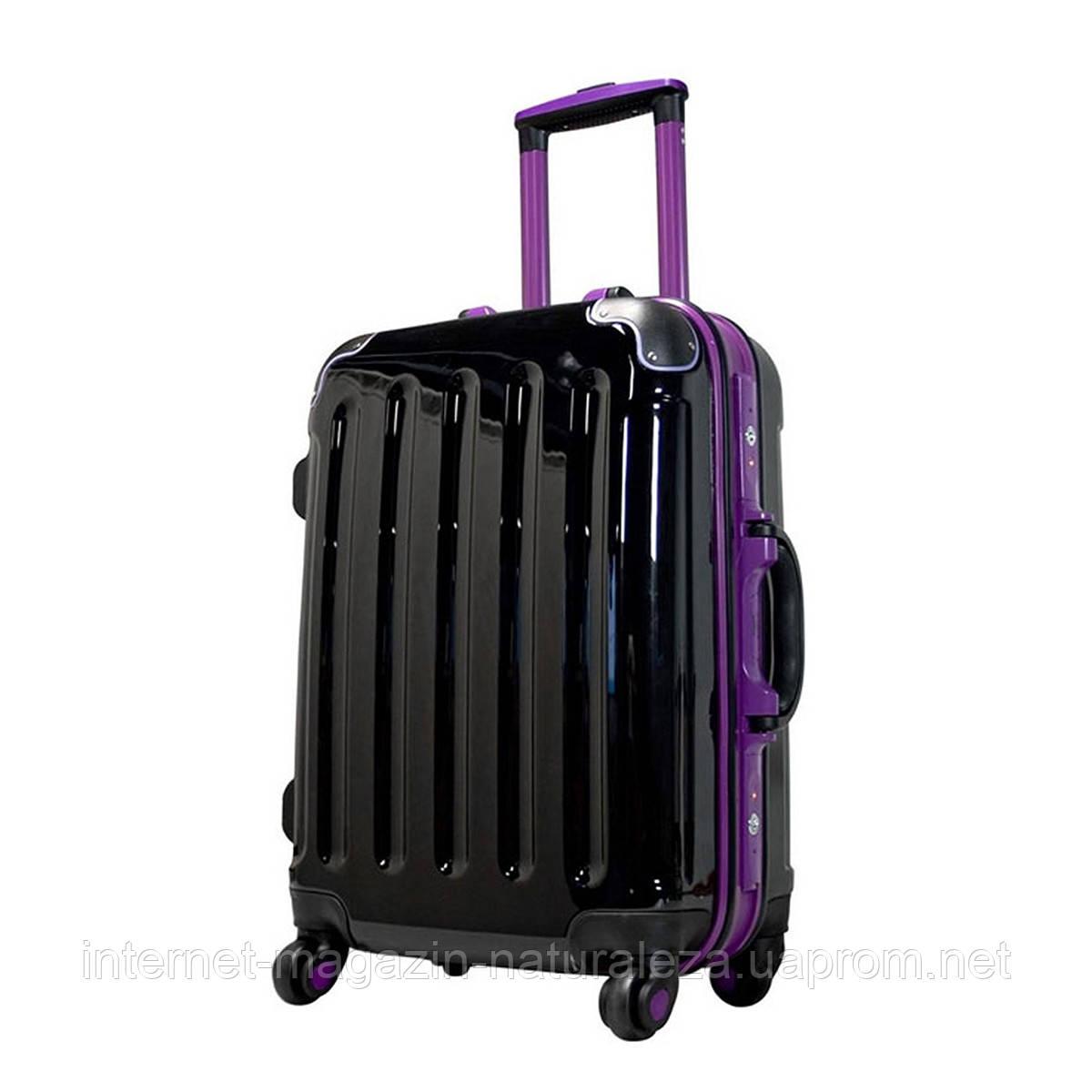Пластиковый чемодан midi Monopol Odessa черный