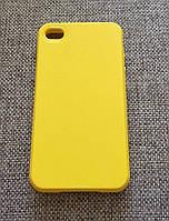 Стильный желтый силиконовый чехол iphone 4s, фото 1