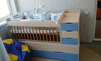 Кровать трансформер Кроха от 0 до 13 лет
