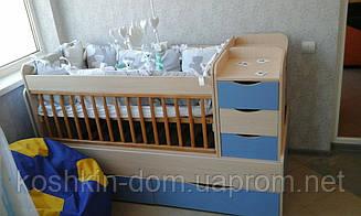 Ліжко трансформер Дитина від 0 до 13 років