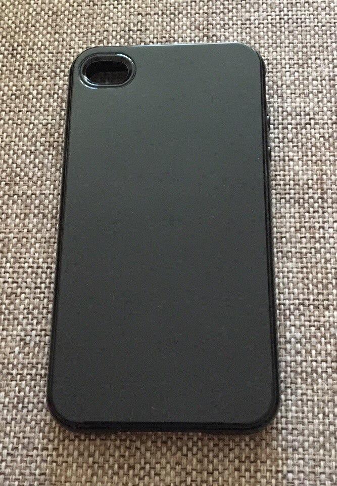 Стильный черный силиконовый чехол iphone 4/4s