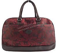 Стильная удобная дорожная сумка саквояж красного цвета art. 41199