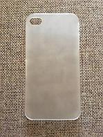 Стильный пластиковый чехол iphone 4 прозрачный