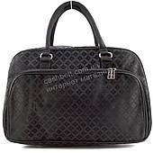 Стильная удобная дорожная сумка саквояж черного цвета art. 8801