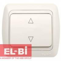 Выключатель 1-клавишный перекрёстный белый EL-BI Tuna 502-0200-214 (без вставки)