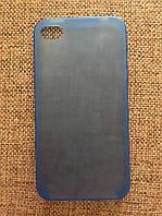 Защитный голубой чехол-накладка iphone 4/4s