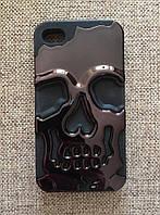 """Чехол """"Череп"""" черный iphone 4/4S, фото 1"""
