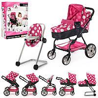 Брендовая коляска для кукол ICOO D-88844 6в1