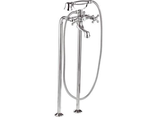 Смеситель для отдельно стоящей ванны подключение с пола Remer Liberty 01LI