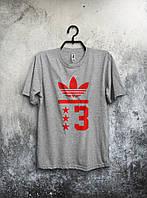 Мужская футболка Adidas (серая)