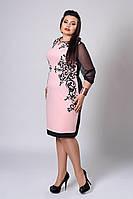 Платье женское модель №285-4, размеры 50,52,54 розовый кварц