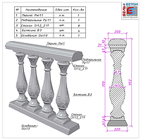 Балюстрада с Романским орнаментом (B3_S05)