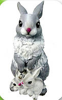 Садово-паркова фігура Крільчиха з кроленятами 40 см