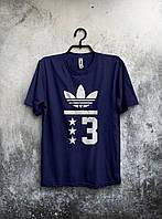 Мужская футболка Adidas (темно-синяя)