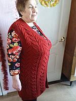 Женская вязанная кофта, ручная работа (образец)