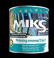 Грунт-емаль 3 в 1 Miks зелена 2,5 кг, фото 1
