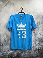 Мужская футболка Adidas (голубая)
