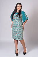 Платье женское модель №512-2, размеры 50 бирюза
