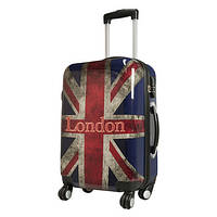 Чемодан на колесах midi Monopol London Union Jack