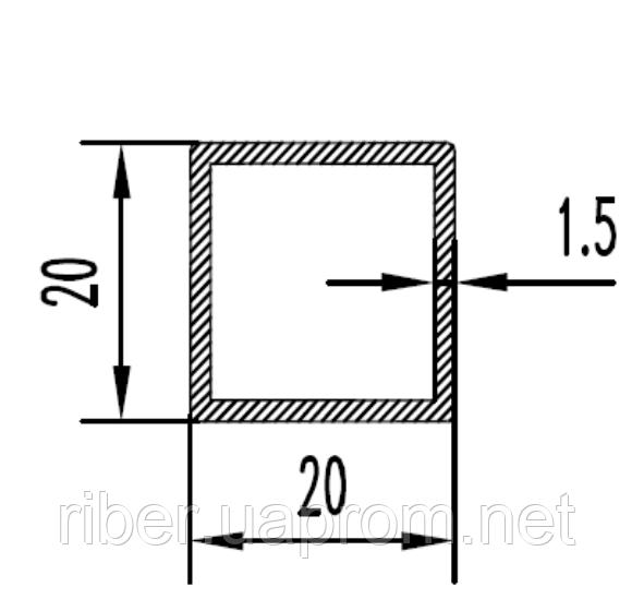 Квадратная труба 20х20х1.5 мм