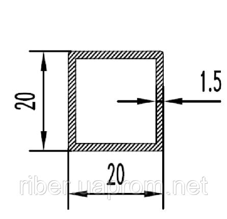 Квадратная труба 20х20х1.5 мм, фото 2