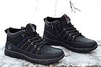 Ботинки полуботинки кроссовки зимние мужские черные на молнии Фешн. Топ 40, фото 1