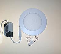 Светодиодный светильник Ecostrum 6W 4000К встраиваемый круг