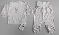 Комплект в роддом для новорожденных р.56 ТМ Фламинго