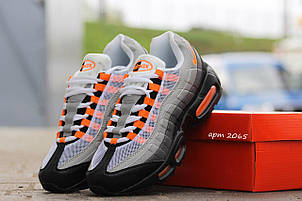 Кроссовки Nike air max 95,текстиль серые с оранжевым, фото 2