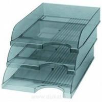 Лоток для бумаги горизонтальный ЛГ-04 прозрачный (КИП)