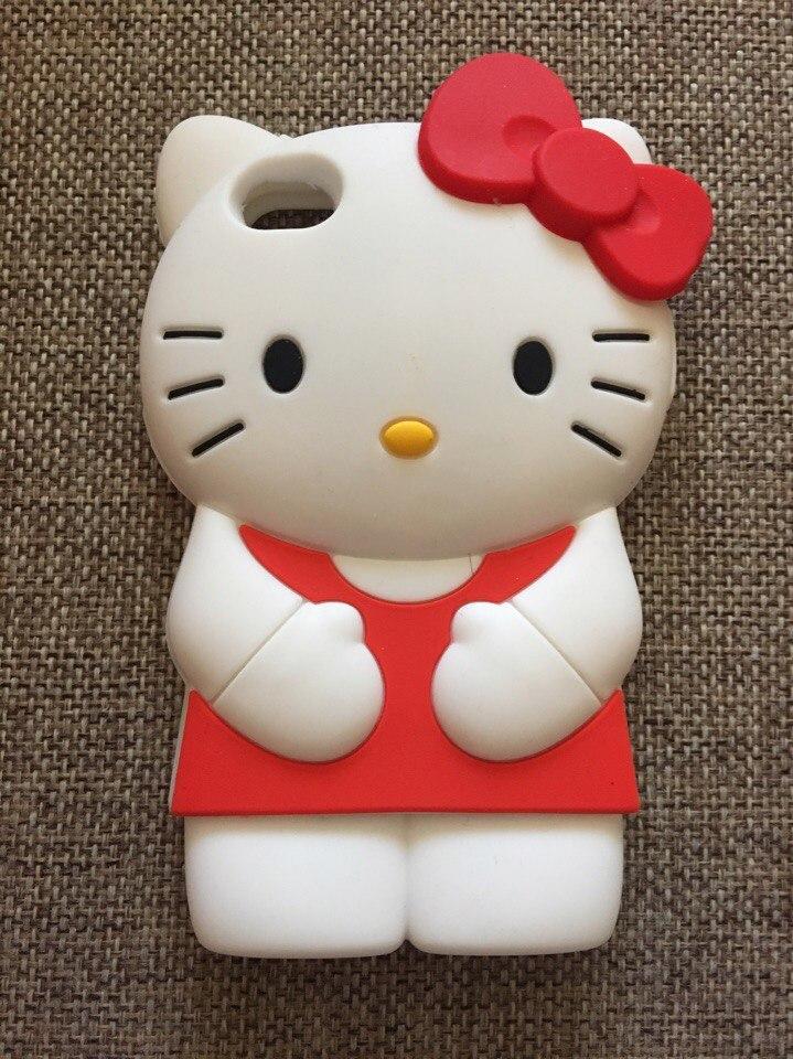 """Силиконовый чехол """"Kitty"""" iphone 4/4S красный"""