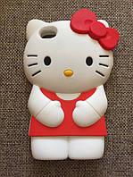 """Силиконовый чехол """"Kitty"""" iphone 4/4S красный , фото 1"""