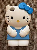 "Силиконовый чехол ""Kitty"" iphone 4/4S голубой"