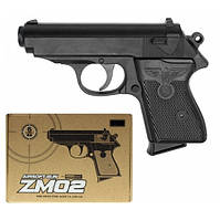 Пистолет металл-пластик ZM02 (Вальтер ППК) CYMA